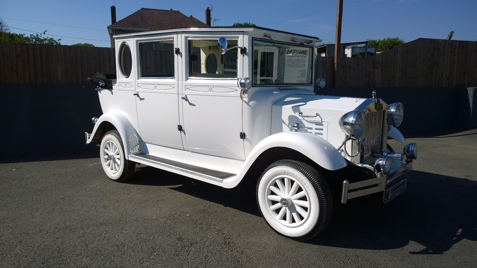 White Imperial Wedding Car