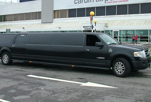 Black Ford Expedition stretched limo