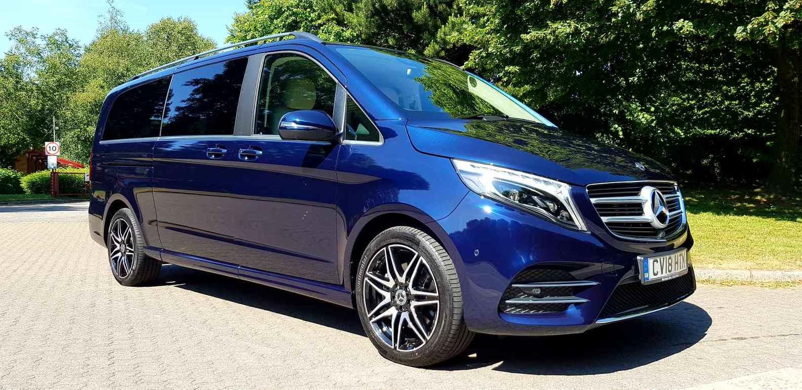 Blue V-Class Mercedes Viano