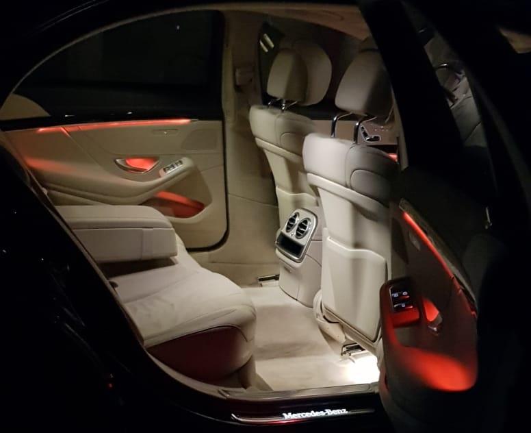 Black AMG S-Class Interior