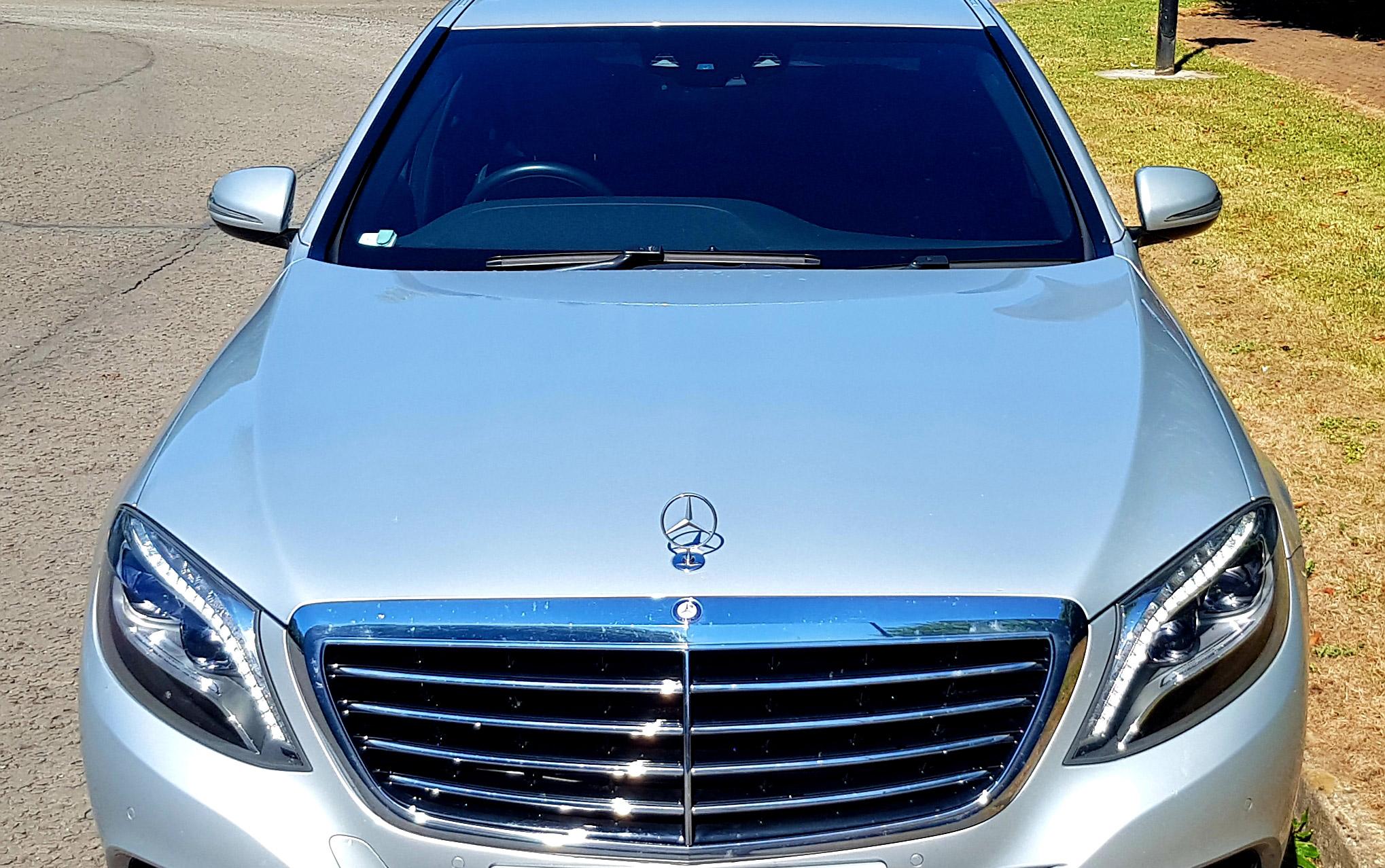 Silver Mercedes Front Shot
