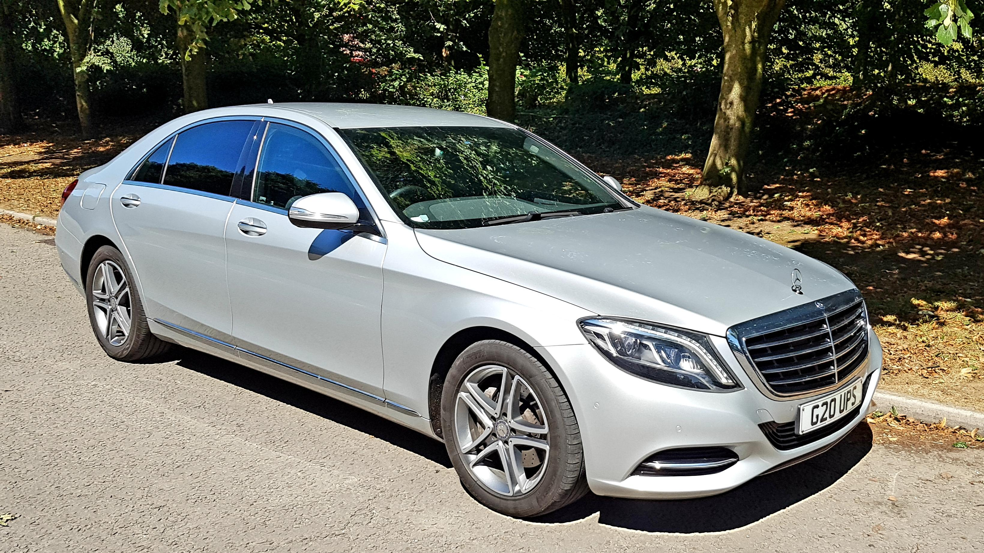 LWB Silver Mercedes